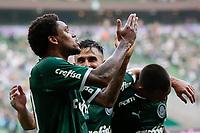 São Paulo (SP), 16/02/2020 - Palmeiras-Mirassol - Luiz Adriano comemora terceiro gol. Palmeiras e Mirassol, durante partida válida pela sexta rodada do campeonato paulista 2020, no Allianz Parque, zona oeste da capital, na tarde deste domingo (16).