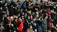 Tuesday 01 January 2013<br /> Pictured: Swansea supporters.<br /> Re: Barclays Premier League, Swansea City FC v Aston Villa at the Liberty Stadium, south Wales.