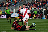 Chester, PA - Sunday December 10, 2017: Tanner Beason, Austin Panchot. Stanford University defeated Indiana University 1-0 in double overtime during the NCAA 2017 Men's College Cup championship match at Talen Energy Stadium.
