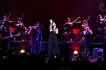 Italian singer Laura Pausini during her concert performance at Palacio de los Deportes in Madrid, Spain. February 08, 2014. (ALTERPHOTOS/Victor Blanco)