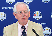 Allan Mackay, Captain of Blairgowrie Golf Club announces that Blairgowrie Golf Club will host the Junior Ryder Cup in 2014. The press converence took place during the second round of the 2012 Johnnie Walker Championships which are being played over the PGA Centenary Course at Gleneagles from 23rd to 26thh August 2012: Picture Stuart Adams www.golftourimages.com: 24th August 2012