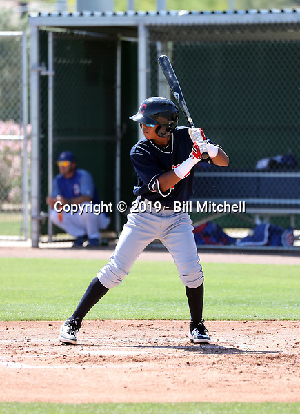 Dayan Frias - Cleveland Indians 2019 extended spring training (Bill Mitchell)