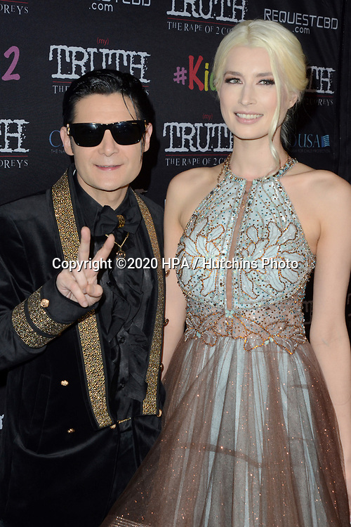 """LOS ANGELES - MAR 9:  Corey Feldman, Courtney Anne Mitchell at the """"(My) Truth: The Rape of 2 Coreys"""" L.A. Premiere at the DGA Theater on March 9, 2020 in Los Angeles, CA"""
