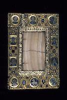 Europe/France/Auvergne/12/Aveyron/Conques: Trésor - Autel portatif albâtre et émaux cloisonnés - XIIème siècle