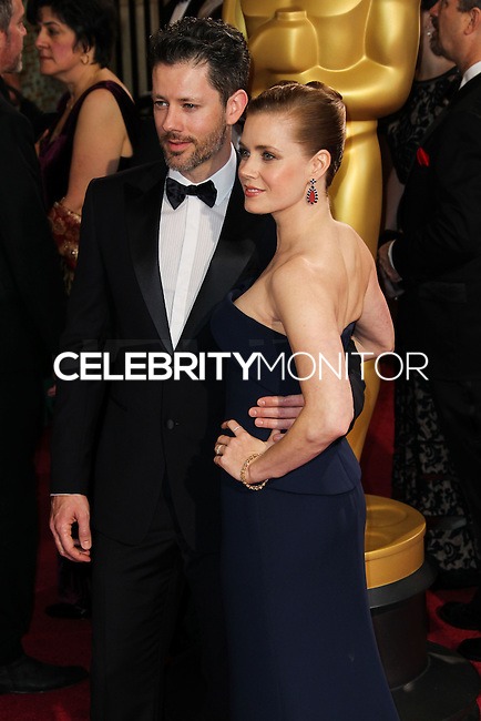 HOLLYWOOD, LOS ANGELES, CA, USA - MARCH 02: Darren Le Gallo, Amy Adams at the 86th Annual Academy Awards held at Dolby Theatre on March 2, 2014 in Hollywood, Los Angeles, California, United States. (Photo by Xavier Collin/Celebrity Monitor)