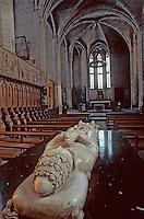 Europe/France/Auvergne/43/Haute-Loire/Parc Naturel Régional du Livradois-Forez/La Chaise Dieu: L'église abbatiale de Saint-Robert (architecture gothique) - Le tombeau de Clément VI