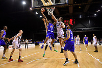 Dion Prewster of the Wellington Saints shoots the ball during the round one NBL match between the Wellington Saints and the Canterbury Rams at TSB Bank Arena, Wellington, New Zealand on Friday 30 April 2021.<br /> Photo by Masanori Udagawa. <br /> www.photowellington.photoshelter.com