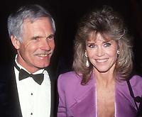 Ted Turner Jane Fonda 1991<br /> Photo By John Barrett/PHOTOlink