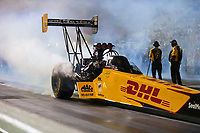 Sep 4, 2020; Clermont, Indiana, United States; NHRA top fuel driver Shawn Langdon during qualifying for the US Nationals at Lucas Oil Raceway. Mandatory Credit: Mark J. Rebilas-USA TODAY Sports