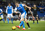 St Johnstone v Partick Thistle…08.08.17… McDiarmid Park.. Betfred Cup<br />David Wotherspoon shoots<br />Picture by Graeme Hart.<br />Copyright Perthshire Picture Agency<br />Tel: 01738 623350  Mobile: 07990 594431
