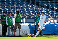 San Diego, CA - Sunday January 29, 2017: Sacha Kljestan during an international friendly between the men's national teams of the United States (USA) and Serbia (SRB) at Qualcomm Stadium.