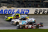 NASCAR Camping World Truck Series<br /> TheHouse.com 225<br /> Chicagoland Speedway, Joliet, IL USA<br /> Friday 15 September 2017<br /> Noah Gragson, Switch Toyota Tundra, Johnny Sauter, ISMConnect Chevrolet Silverado and Matt Crafton, Black Label Bacon/Menards Toyota Tundra<br /> World Copyright: Russell LaBounty<br /> LAT Images