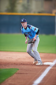 Austin Phillips (17) of Frenship HS High School in Lubbock, Texas during the Under Armour All-American Pre-Season Tournament presented by Baseball Factory on January 14, 2017 at Sloan Park in Mesa, Arizona.  (Mike Janes/Mike Janes Photography)