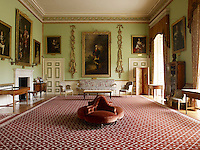 The 5th Duke of Argyll envisaged the Saloon as a modern living room where guests would read the papers, make music and play billiards