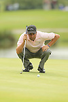 Jose Maria Olazabal lines up a birdie putt on the 14th hole during the 2nd round of the ISPS Handa Wales Open 2012...01.06.12.©Steve Pope