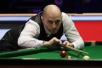 12th January 2020, Alexandra palace, London, United Kingdom; Joe Perry of England plays a shot during the round 1 match between Ding Junhui of China and Joe Perry of England at Snooker Masters 2020 at the Alexandra Palace . Perry won 6 frames to 3.