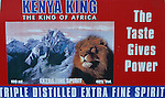 Publicite pour une boisson alcoolisee au Mont Kenya (Kenya)
