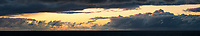 Coastal sunset with clouds, West Coast, South Westland, UNESCO World Heritage Area, New Zealand, NZ