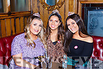 Amanda Cronin-Jenks, Donelle O'Leary and Emer O'Connor enjoying some drinks in Scotts Hotel on Saturday night