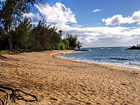 A beautiful beach on the north shore of Oahu, Hawaii.
