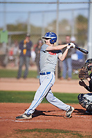 Jesse Rice (45), from Caldwell, Idaho, while playing for the Indians during the Under Armour Baseball Factory Recruiting Classic at Gene Autry Park on December 30, 2017 in Mesa, Arizona. (Zachary Lucy/Four Seam Images)