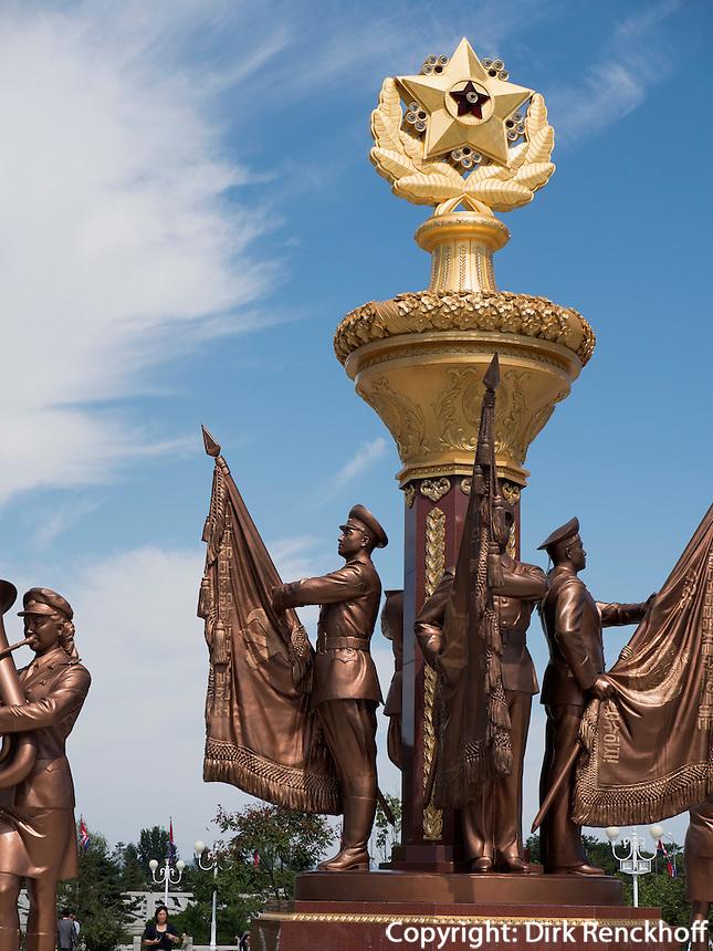 Park des Mausoleum von Kim Il Sung und Kim Jong Il, Pyongyang, Nordkorea, Asien<br /> Park of mausoleum of King il Sung and Kim yong Il