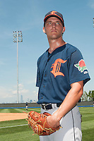 Connecticut Tigers  pitcher Johnathon Crawford (52) during game against the Staten Island Yankees at Richmond County Bank Ballpark at St.George on July 7, 2013 in Staten Island, NY.  Staten Island defeated Connecticut 6-2.  (Tomasso DeRosa/Four Seam Images)