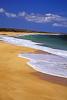 Beautiful pristine Papohaku beach, west Molokai, one of the longest and finest beaches in the Hawaiian islands.