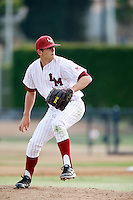 Bret Dahlson #9 of the Loyola Marymount Lions pitches against the Gonzaga Bulldogs at Page Stadium on March 28, 2013 in Los Angeles, California. (Larry Goren/Four Seam Images)