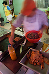 Street vendor cooking food, Isla Holbox