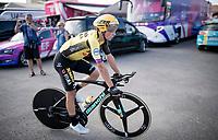 Primoz Roglic (SVK/LottoNL-Jumbo) at the stage start in Torrevieja  <br /> <br /> Stage 1 (TTT): Salinas de Torrevieja to Torrevieja (13.4km)<br /> La Vuelta 2019<br /> <br /> ©kramon