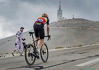 eventual stage winner Wout van Aert (BEL/Jumbo-Visma) on the Mont Ventoux <br /> <br /> Stage 11 from Sorgues to Malaucène (198.9km)<br /> 108th Tour de France 2021 (2.UWT)<br /> <br /> ©kramon