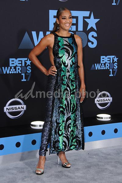 25 June 2017 - Los Angeles, California - Amanda Seales. 2017 BET Awards held at the Microsoft Square in Los Angeles. Photo Credit: Birdie Thompson/AdMedia