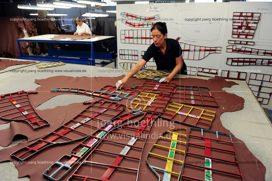 URUGUAY, Dep. San Jose, company Bader, tannery and production of leather for car seats for brands like BMW and others / Firma Bader, Gerberei und Herstellung von Leder fuer Autositze u.a fuer BMW