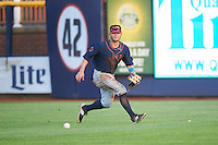 Bowing Green Hot Rods right fielder Zacrey Law (6) during a game against the Quad Cities River Bandits on July 24, 2016 at Modern Woodmen Park in Davenport, Iowa.  Quad Cities defeated Bowling Green 6-5.  (Mike Janes/Four Seam Images)