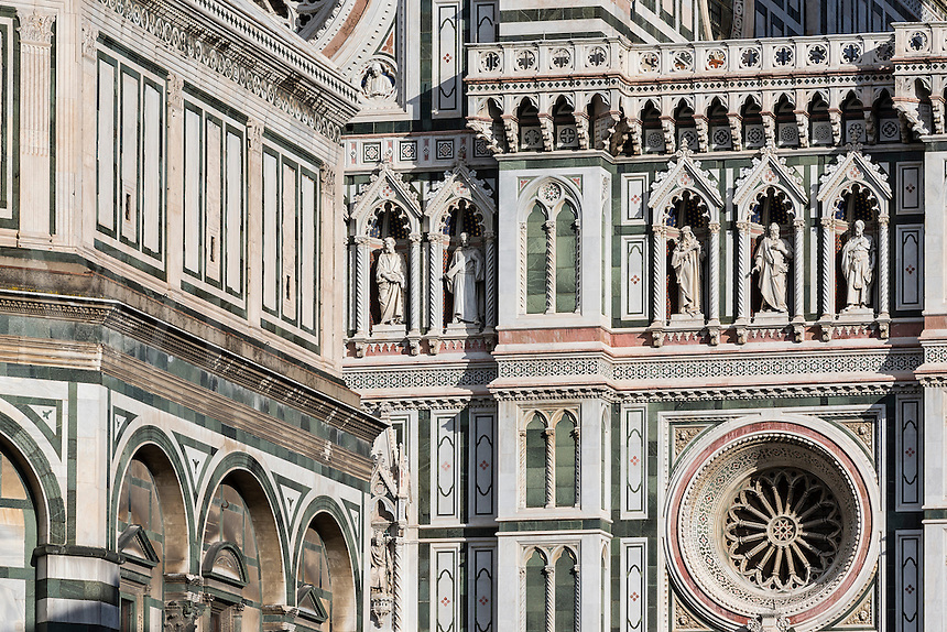 Santa Maria del Fiore Cathedral detail, Florence, Italy