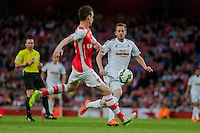 LONDON, ENGLAND - MAY 11 during  Gylfi Sigurosson of Swansea City in action during the Premier League match between Arsenal and Swansea City at Emirates Stadium on May 11, 2015 in London, England.  (Photo by Athena Pictures/Getty Images)