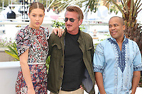 Adele Exarchopoulos Sean Penn Zubin Cooper attends ' the last face' Photocall durig The 69th Annual Cannes Film Festival on May 20, 2016 in Cannes