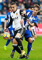 Deportivo Alaves' Tomas Pina (r) and Valencia CF's Rodrigo Moreno during La Liga match. October 28,2017. (ALTERPHOTOS/Acero) /NortePhoto.com