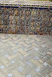 Tiles at El Alcazar in Seville, Spain.