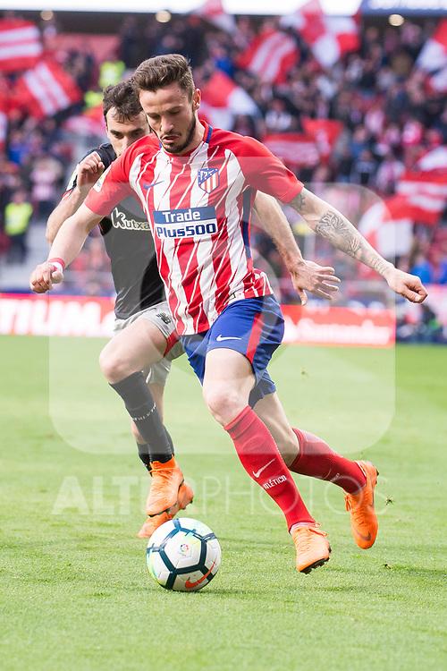 Atletico de Madrid Saul Niguez during La Liga match between Atletico de Madrid and Athletic Club and Wanda Metropolitano in Madrid , Spain. February 18, 2018. (ALTERPHOTOS/Borja B.Hojas)