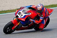 31st  March 2021; Barcelona, Spain; World Superbike testing at Circuit Barcelona-Catalunya;   Leon Haslam (GBR) riding Honda CBR 1000 RR-R for Team HRC