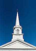 New England church steeple detail.