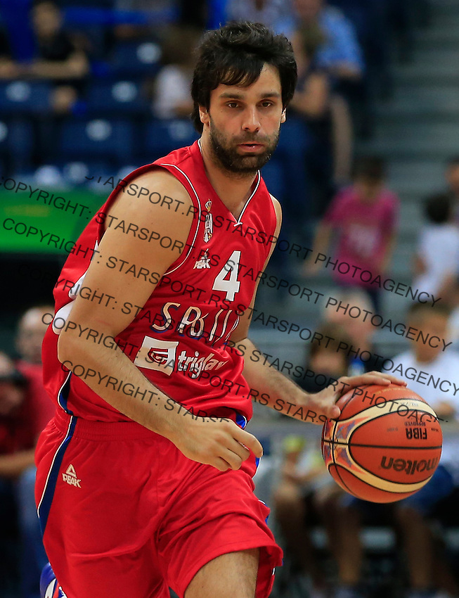 Kosarka Basketball<br /> Kosarkaski Savez Srbije-Beogradski Acibadem Trofej<br /> Srbija v Kina<br /> Milos Teodosic<br /> Belgrade, 15.08.2014.<br /> foto: Srdjan Stevanovic/Starsportphoto ©