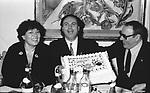 NORI E SERGIO CORBUCCI CON ROCCO BAROCCO<br /> FESTA ROCCO BAROCCO 1986
