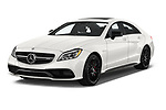 2018 Mercedes Benz CLS-Class AMG-CLS63-4MATIC 4 Door Sedan Angular Front stock photos of front three quarter view