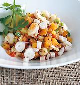 Salade de poulpe et patates carry