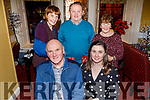 Double celebrations for the McMahon family from Lixnaw, as dad and daughter celebrate their birthday in the Brogue Inn on Friday.<br /> Seated l to r: Patrick and Sharon McMahon.<br /> Back l to r: Kathleen and Timmy Weir and Noreen McMahon