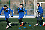 St Johnstone Training…. 29.12.20<br />Jamie McCart pictured with Shaun Rooney and Michael O'Halloran during training at McDiarmid Park this morning ahead of tomorrows game against Hamilton<br />Picture by Graeme Hart.<br />Copyright Perthshire Picture Agency<br />Tel: 01738 623350  Mobile: 07990 594431