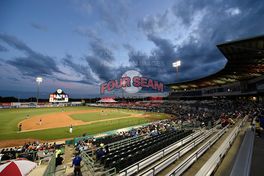 ***Temporary Unedited Reference File***San Antonio Missions  during a game against the Midland RockHounds on April 21, 2016 at Nelson W. Wolff Municipal Stadium in San Antonio, Texas.  Midland defeated San Antonio 9-2.  (Mike Janes/Four Seam Images)